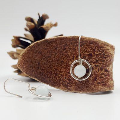 LAGOON CERCLE boucles d oreilles ST20027 argent925 aigue marine PatriciaLemaire 3x1 5cm