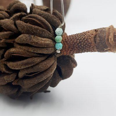 LAGOON boucles d oreilles choupi ST20018 argent925 0gr5 3turquoises claires PatriciaLemaire 3x1cmRET