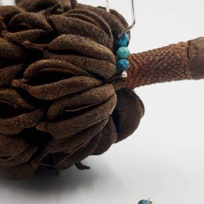 LAGOON boucles d oreilles choupi ST20019 argent925 0gr5 3turquoises claires PatriciaLemaire 3x1cmRET