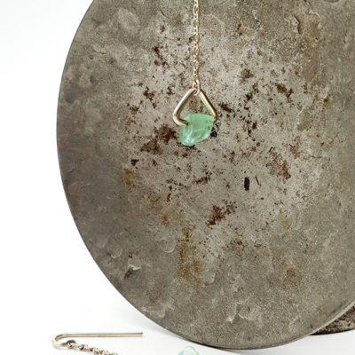 ROCK AND boucles d oreilles ST19085 argent925 fluorites PatriciaLemaire 4x1cm