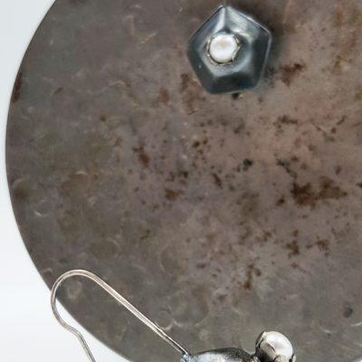 ROCK N PEARL boucles d oreilles dormeuses ST20071 argent925 perles d eau douce PatriciaLemaire 4x1 7cm