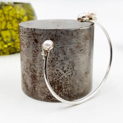 ROCK N PEARL bracelet ouvert ST20079 argent925 3perles d eau douces rondes PatriciaLemaire 16cm 2