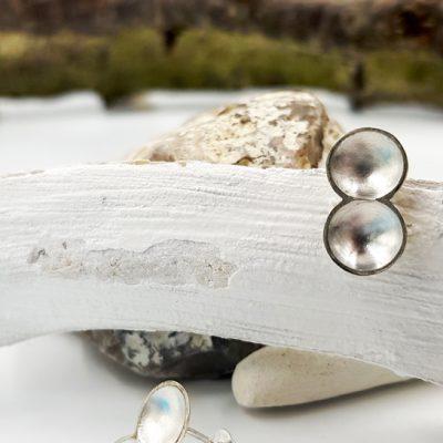 TWINCOSSE boucles d oreilles ST18070 argent925 patine feuille d or PatriciaLemaire 2 5X0 9cmret